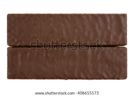 Delicious chocolate waffles isolated on white background - stock photo