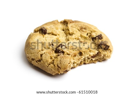 Delicious cookie isolated on white background - stock photo
