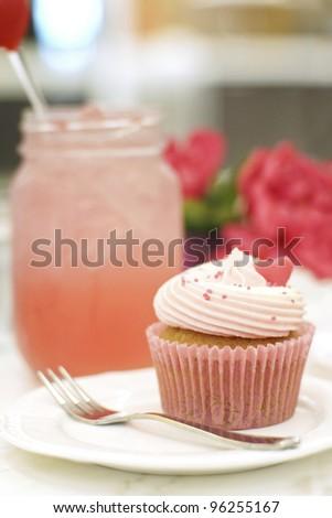 Delicious cupcake - stock photo