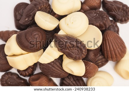 Delicious dark and milk chocolate - stock photo