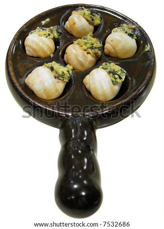 delicious escargot france gourmet food - stock photo