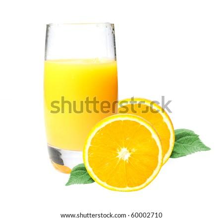 Delicious glass of orange juice - stock photo