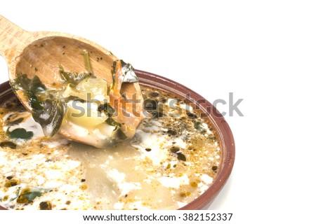 delicious green soup - stock photo