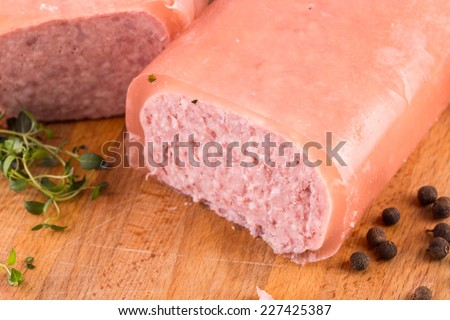 Delicious ham on the cutting board - stock photo