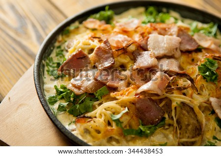 delicious home made casserole on the table - stock photo