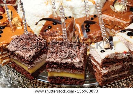 Delicious homemade cakes - stock photo