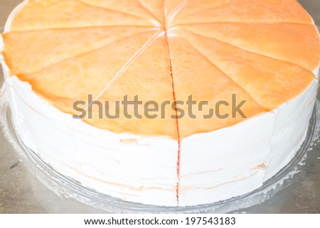 Delicious homemade whipped crepe cake, stock photo - stock photo
