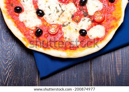 delicious italian pizza - stock photo