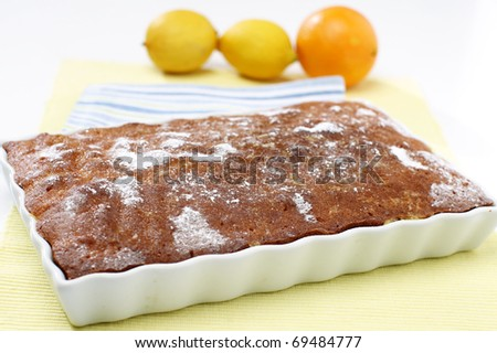Delicious lemon pie - stock photo