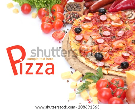 Delicious pizza - stock photo