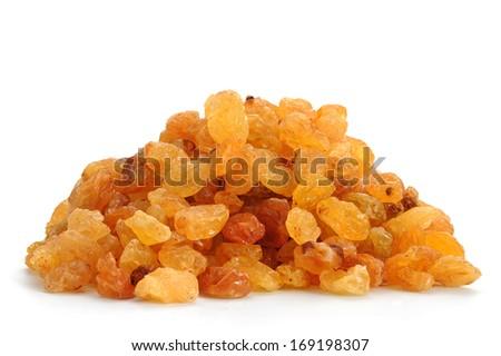 Delicious raisins studio isolated on white background - stock photo