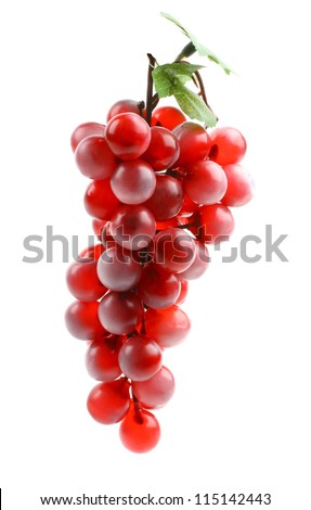 Delicious ripe bunch of grapes isolated on white background - stock photo