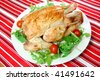 Delicious roast chicken - stock photo