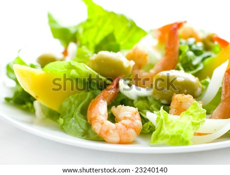 delicious salad - stock photo