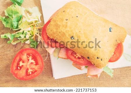 Delicious sandwich - stock photo