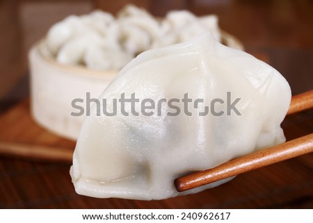 Delicious Steamed Dumpling - stock photo