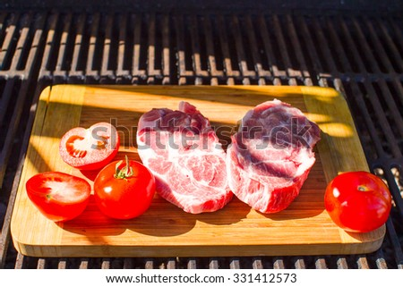Delicious summer picnic outdoors - stock photo