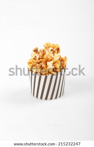 Delicious sweet and crunchy caramel popcorn - stock photo