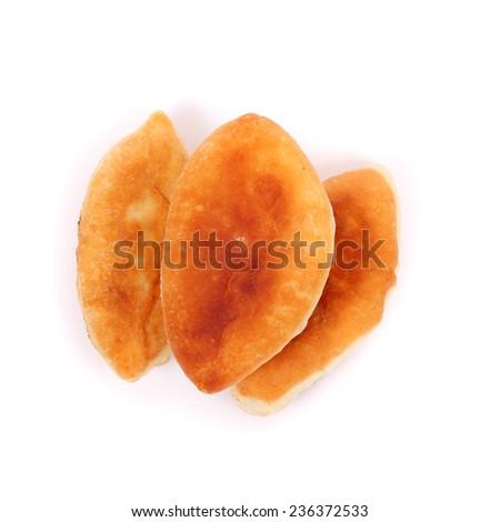 delicious tasty homemade pasties closeup - stock photo