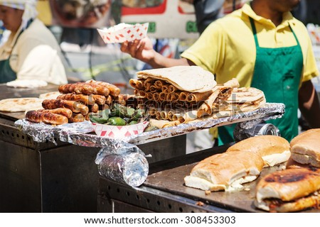 Delicious tasty mexican street food on a grill - stock photo