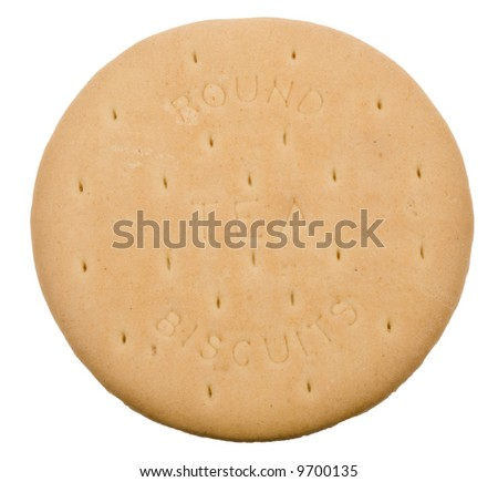 delicious tea biscuits isolated on a white background - stock photo