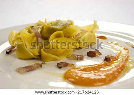 delicious tortelli - stock photo