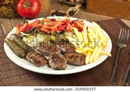 Delicious Turkish Kofte (meatballs) - stock photo