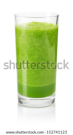 Delicious vegetable smoothie from spinach and cucumber  - stock photo
