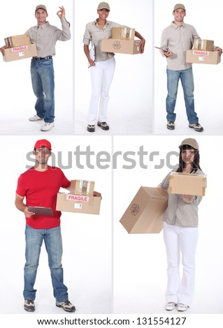 Delivery people - stock photo