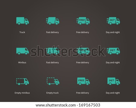 Delivery Service icons. See also vector version. - stock photo
