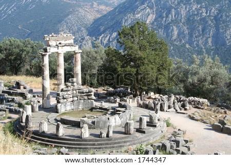 delphi greece peloponnese - stock photo