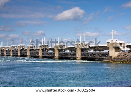 Delta Bridge - stock photo