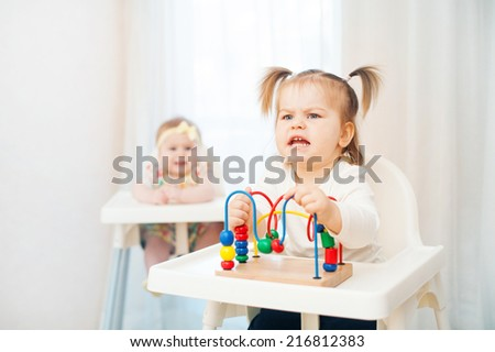 demanding  child - stock photo