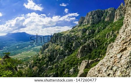 Demerji mountain in Krimea (Ukraine) near Alushta - stock photo
