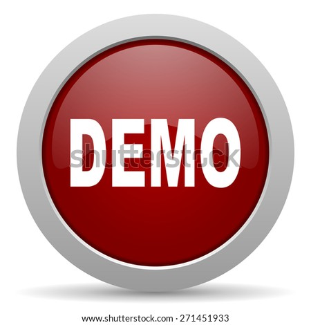 demo red glossy web icon  - stock photo
