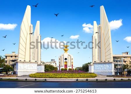Democracy Monument In Bangkok,Thailand - stock photo