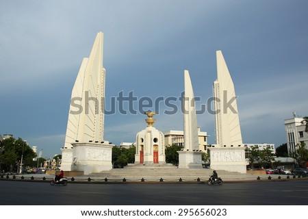 Democracy Monument in Bangkok, Thailand - stock photo