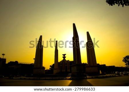 democracy monument Thailand - stock photo