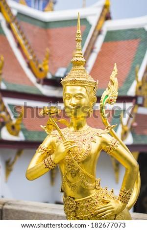 Demon Guardian at Wat Phra Kaew - stock photo