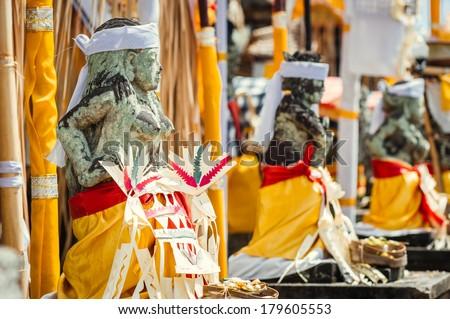 Demon statue in Mother Temple of Besakih, Bali, Indonesia - stock photo