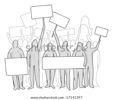 demonstrations - stock photo