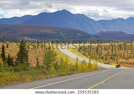 Denali Highway Alaska - stock photo