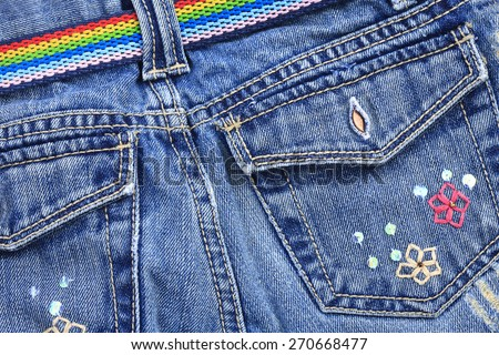 denim jeans - stock photo