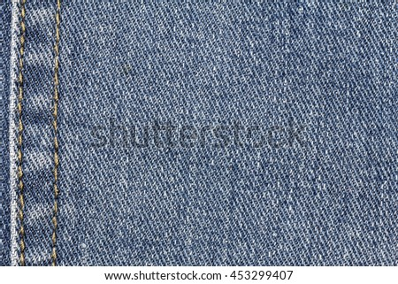 Denim jeans texture or denim jeans background with seam of fashion jeans design with copy space for text or image. - stock photo