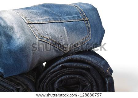 denim rolls - stock photo