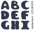 denim scrapbook alphabet - stock photo