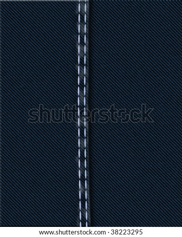 denim seam - stock photo