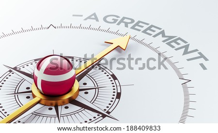 Denmark High Resolution Agreement Concept - stock photo