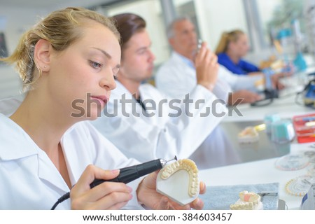 dental laboratory - stock photo