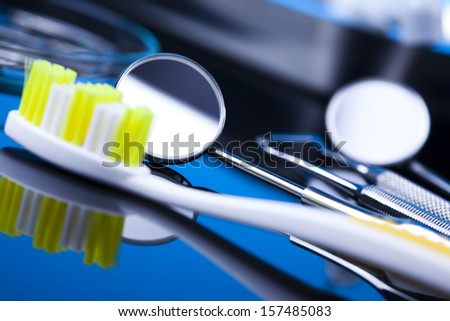 Dental tools and equipment - stock photo